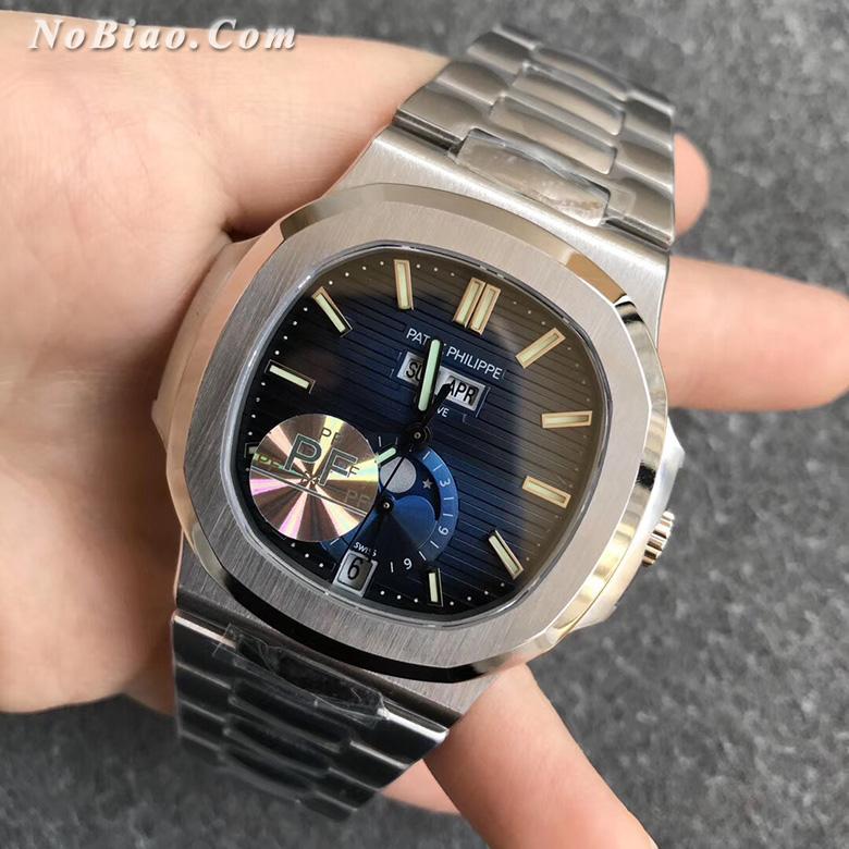 PF厂百达翡丽鹦鹉螺系列5726蓝面多功能款复刻手表