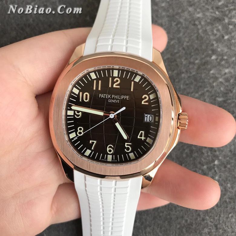 ZF厂百达翡丽AQUANAUT手雷系列金壳白胶带款复刻手表