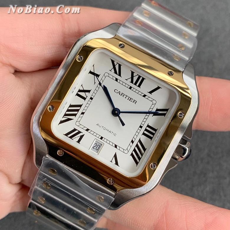GF厂卡地亚山度士系列间金白面复刻手表