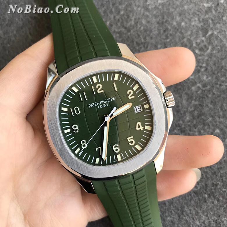 ZF厂百达翡丽AQUANAUT 5168手雷军绿面复刻手表