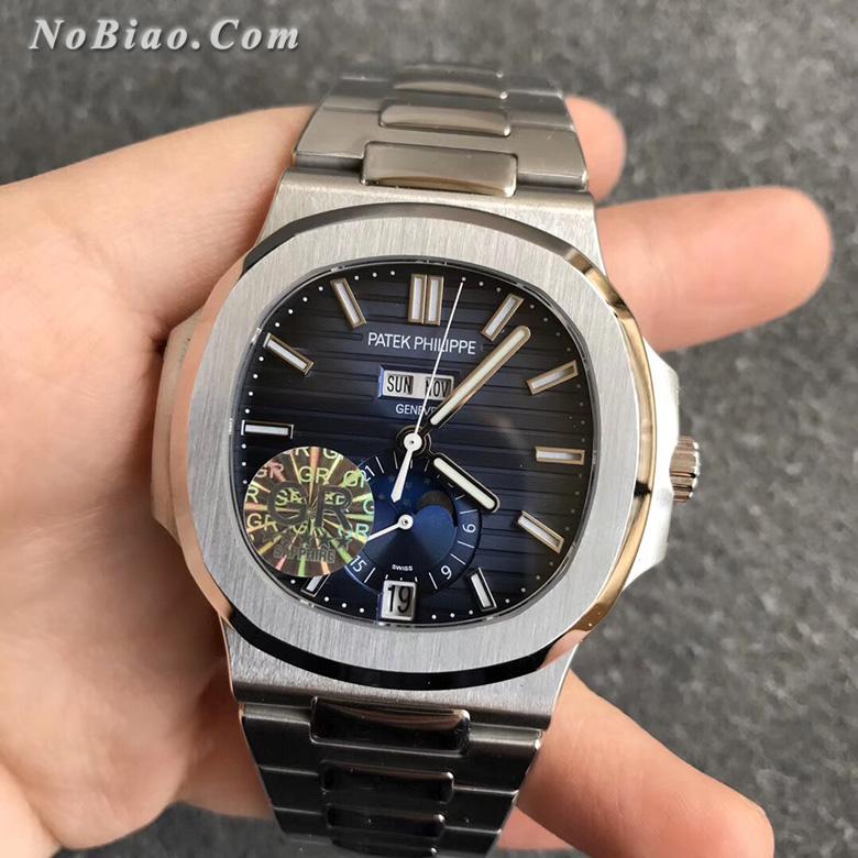GR厂百达翡丽鹦鹉螺系列5726蓝面多功能复刻手表