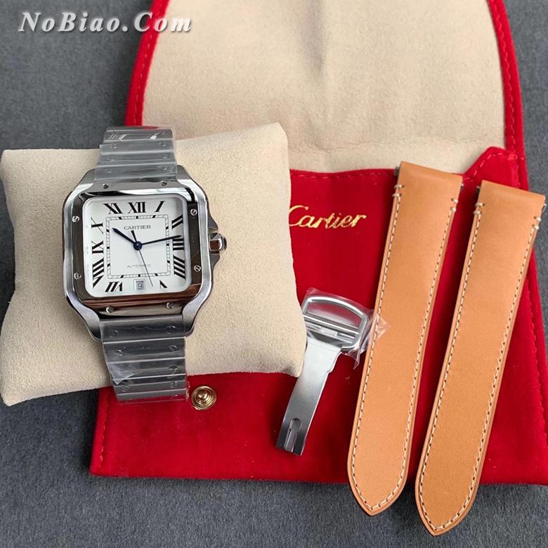 GF厂卡地亚山度士系列白面钢带款高仿手表