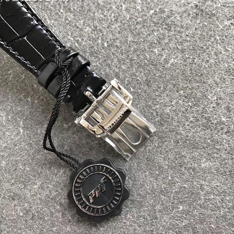 PPF厂百达翡丽鹦鹉螺5711皮带款高仿手表 机芯摆轮位置和正品一致