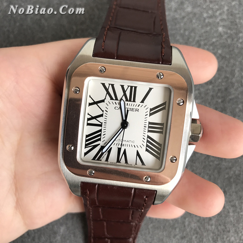 TTW厂卡地亚山度士100周年系列W20107X7包金定制版复刻手表