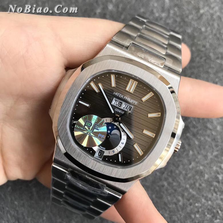 PF厂百达翡丽鹦鹉螺系列5726黑面多功能款高仿手表