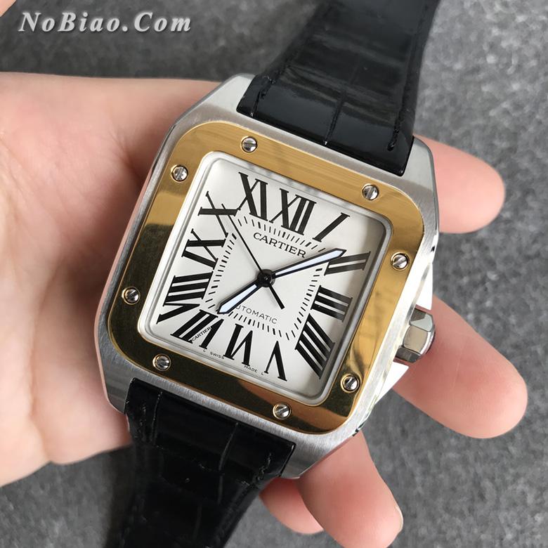 TTW厂卡地亚山度士100周年系列W20072X7包金定制版复刻手表