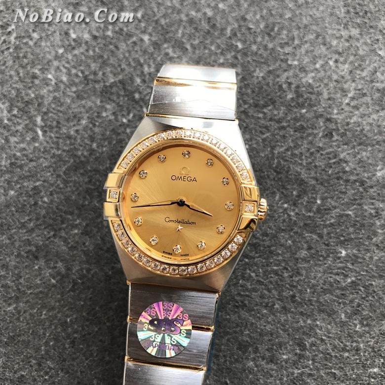 3S厂欧米茄星座系列28毫米131.25.28.60.58.001女士石英复刻手表
