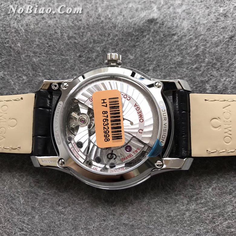 """VS厂欧米茄碟飞系列""""明亮之白""""鳄鱼皮带款复刻手表"""