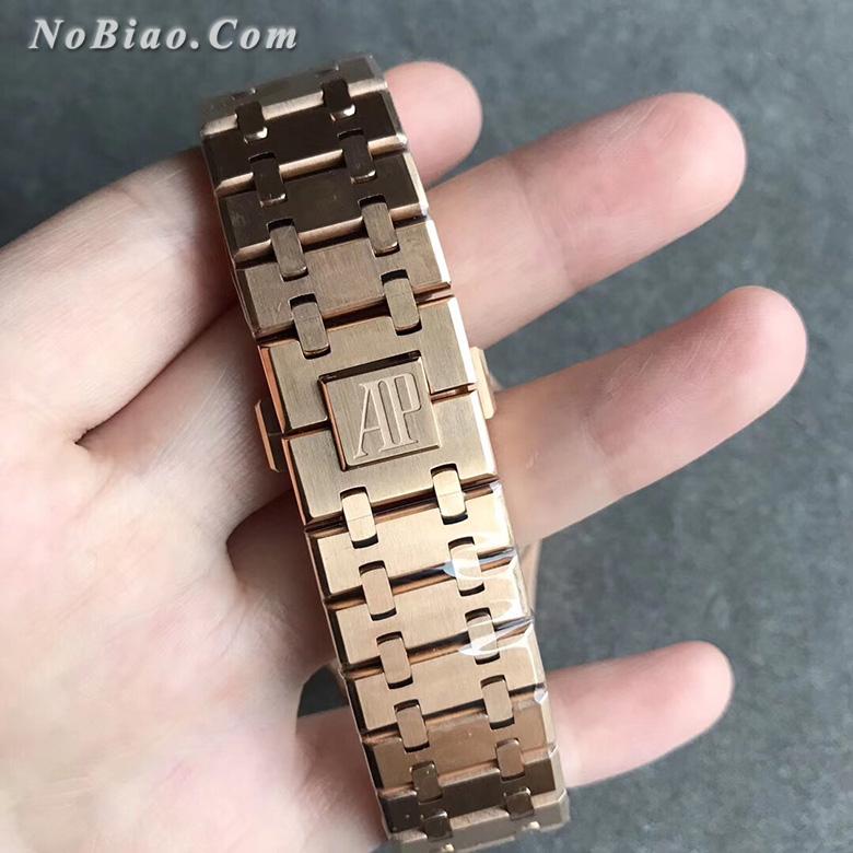 JF厂爱彼皇家橡树系列15400黑面钢带金壳复刻手表