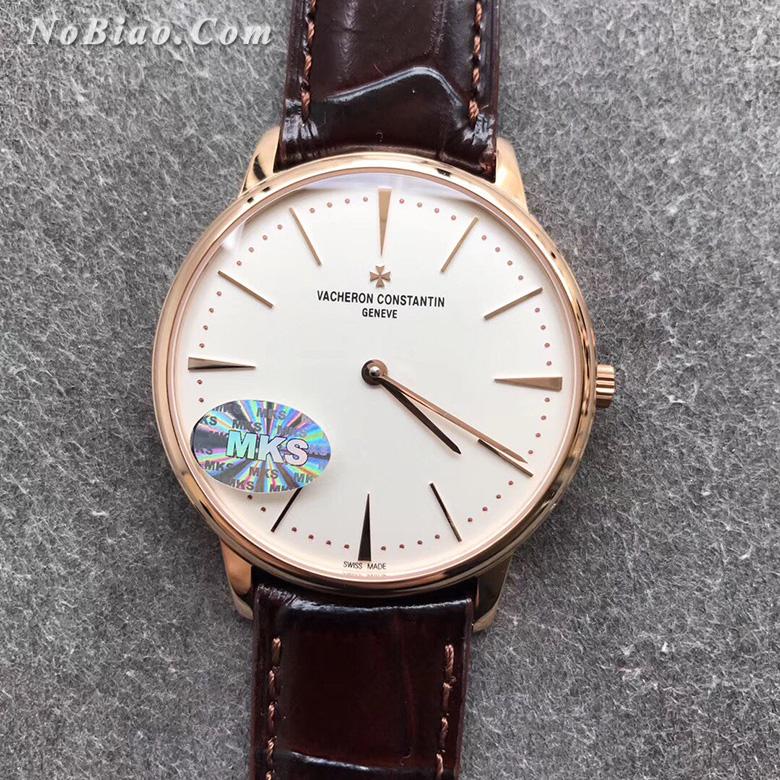 MKS厂江诗丹顿传承系列81180/000R-9159白面玫瑰金复刻手表(三)