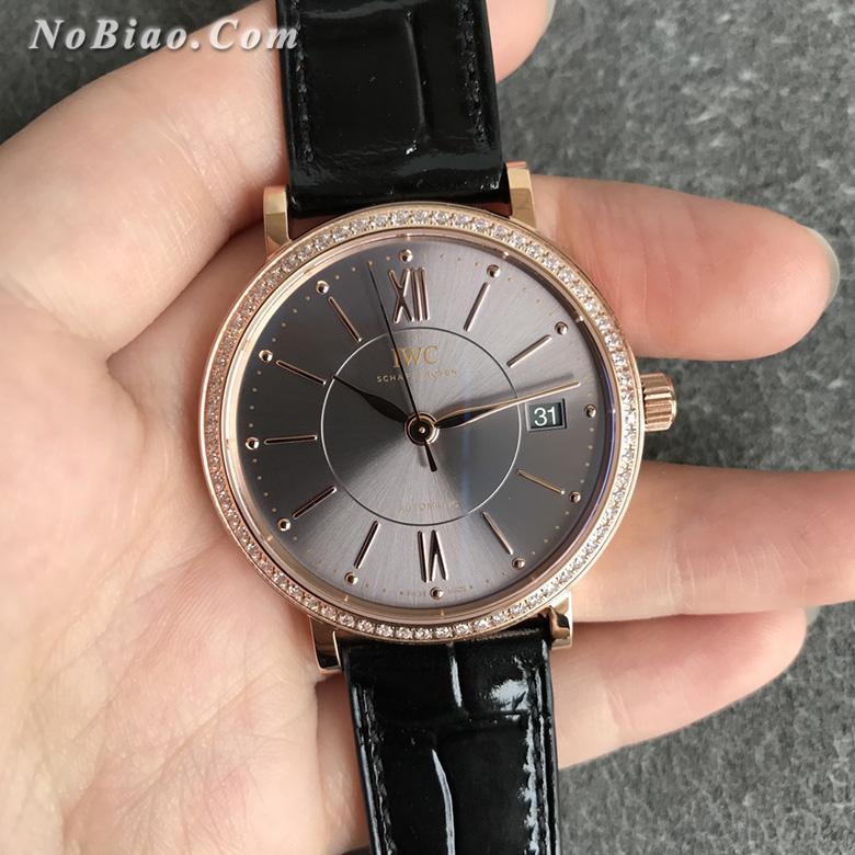 V7厂万国柏涛菲诺钻圈金壳女款复刻手表(十二)