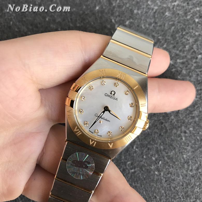 3S厂欧米茄星座系列28毫米131.20.28.60.55.002女士石英复刻手表