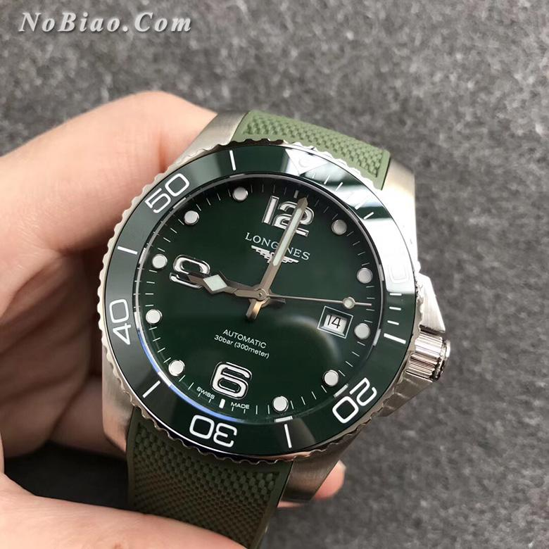TW厂浪琴康卡斯系列L3.781.4.06.9陶瓷圈绿面复刻手表