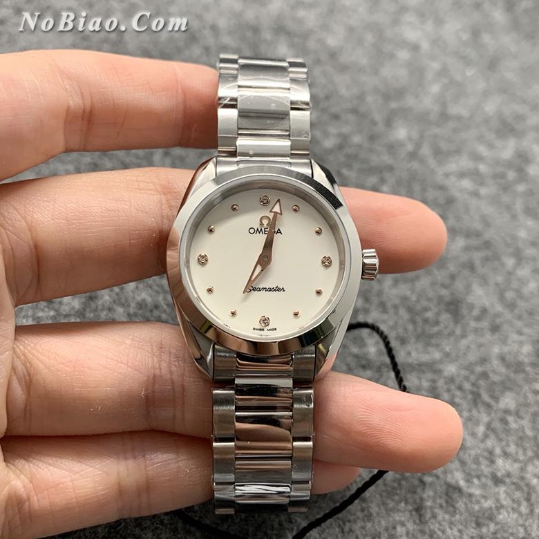 ZF厂欧米茄海马150系列220.10.28.60.54.001女款石英复刻手表