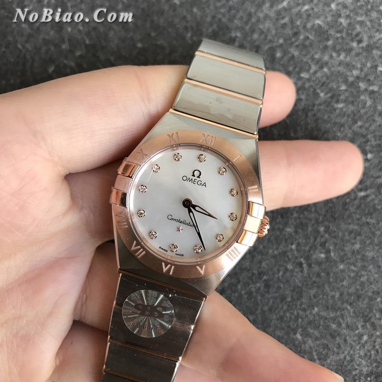 3S厂欧米茄星座系列28毫米131.20.28.60.55.001女士石英复刻手表