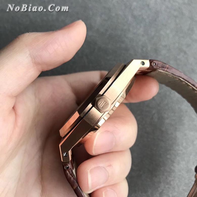 JF厂爱彼皇家橡树系列15400白面皮带款金壳复刻手表