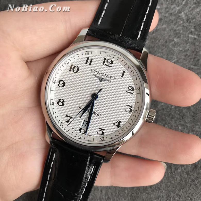 KZ厂浪琴名匠系列六点位单历超薄鳄鱼皮带版复刻手表