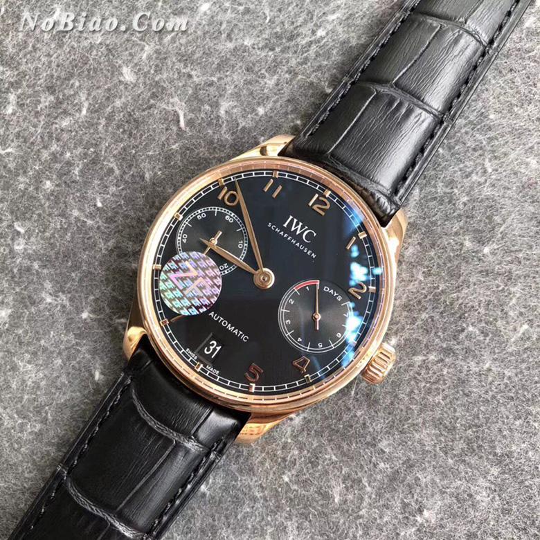 ZF厂万国葡七黑面金壳复刻手表