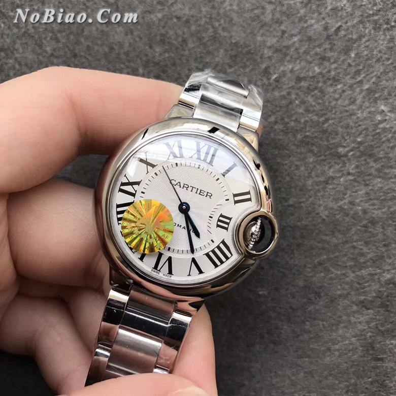AF厂卡地亚蓝气球33毫米白面钢带日本机芯版复刻手表