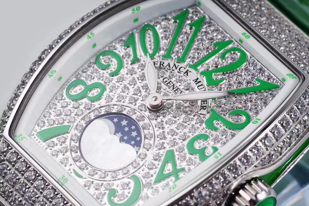 ABF厂法兰克穆勒LADIES'COLLECTION系列绿盘女装石英复刻手表
