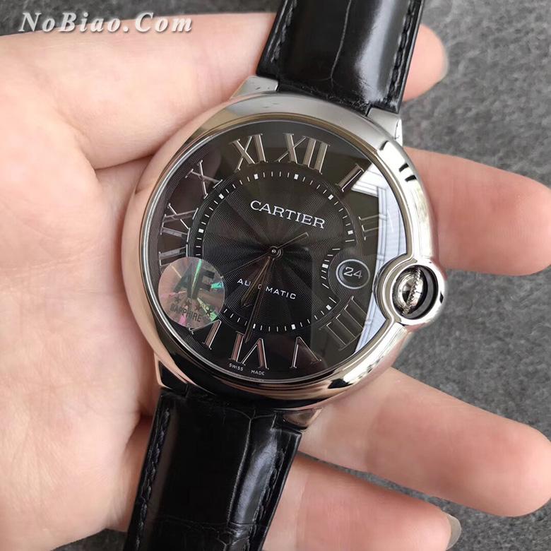AF厂卡地亚大号42毫米蓝气球WSBB0003黑面复刻手表
