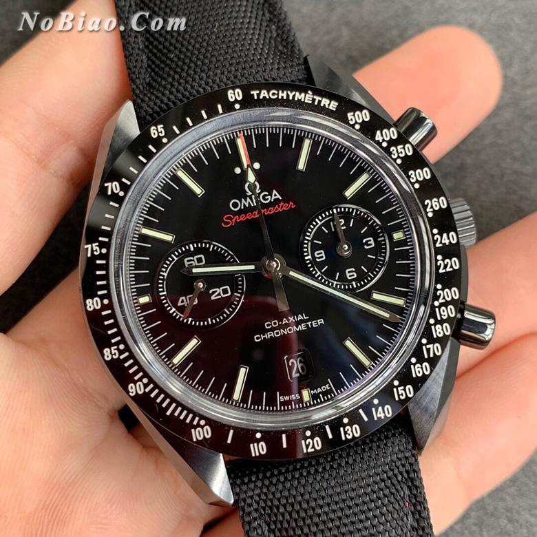 OM厂欧米茄超霸系列月之暗面陶瓷壳复刻手表