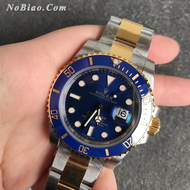 VS厂劳力士间金蓝水鬼116613LB-97203定制包金版复刻手表