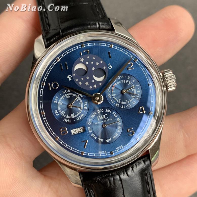 V9厂万国葡萄牙系列蓝面万年历复刻手表