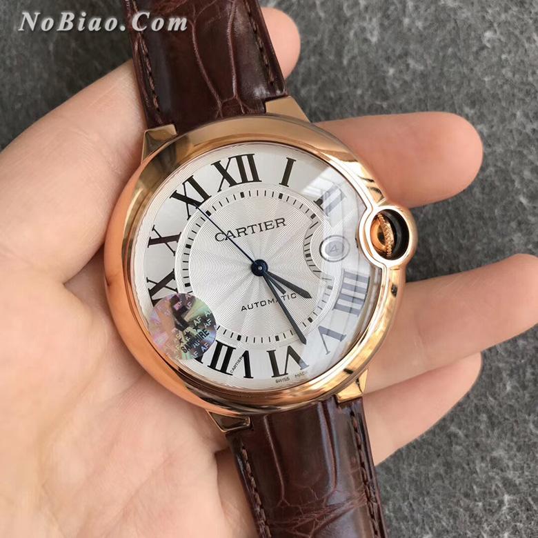 AF厂卡地亚大号蓝气球42毫米W6900551玫金壳皮带版复刻手表