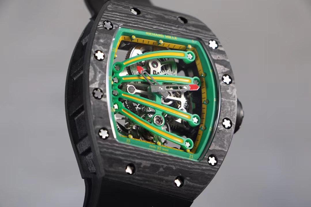 台湾厂理查德米勒RM59-01陀飞轮绿蜥蜴复刻手表