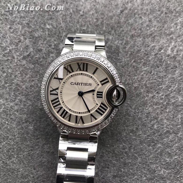 V6厂卡地亚蓝气球33毫米单钻圈女款石英复刻手表