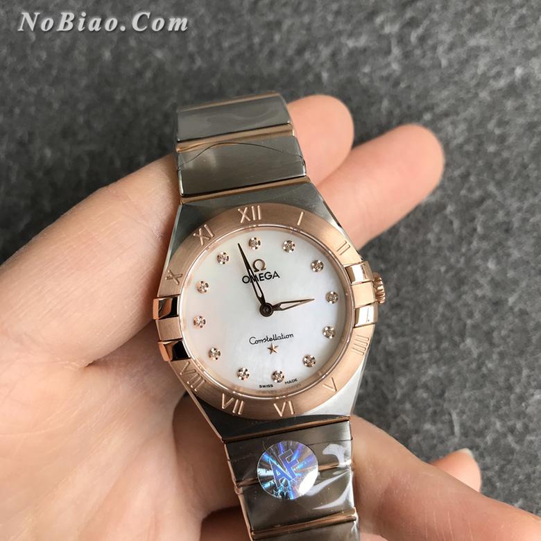 AF厂欧米茄星座28毫米女士石英复刻手表(八)