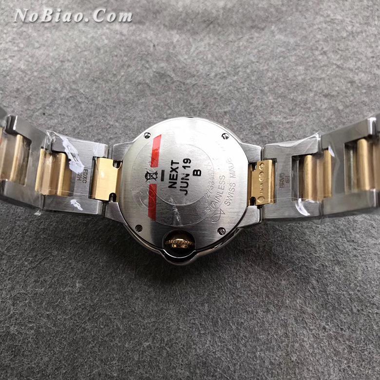 AF厂卡地亚蓝气球28毫米间黄金白面女士复刻手表