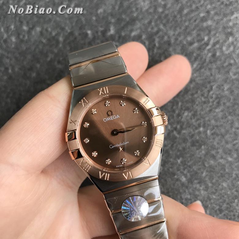 AF厂欧米茄星座28毫米女士石英复刻手表(十)