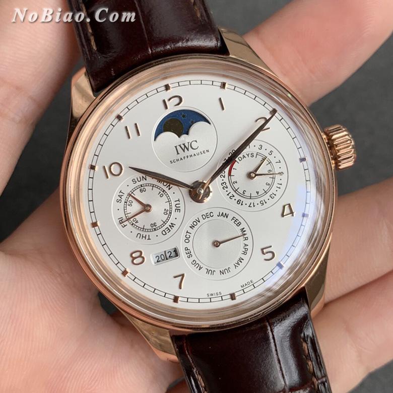 V9厂万国葡萄牙系列白面金壳万年历复刻手表