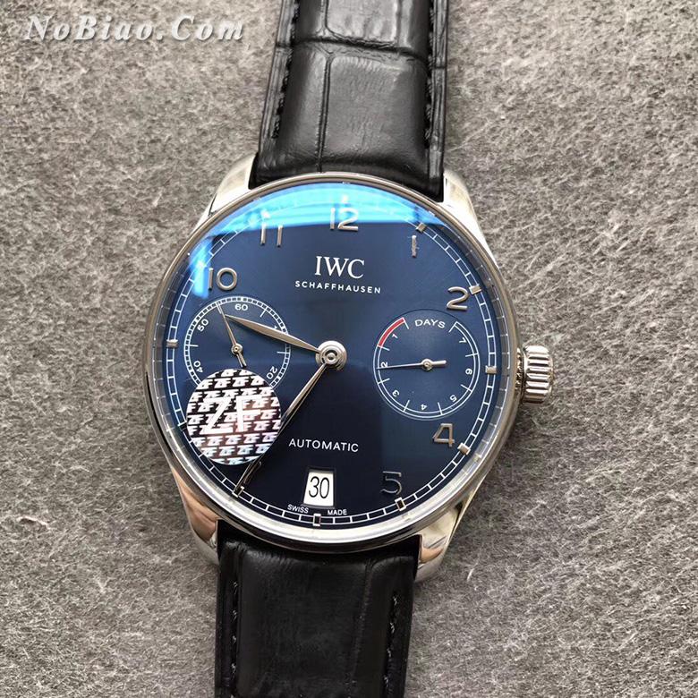 ZF厂万国葡七蓝面复刻手表