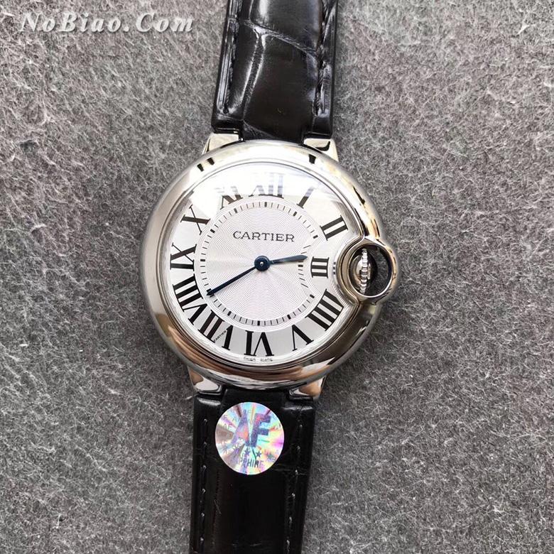 AF厂卡地亚蓝气球33毫米白面皮带石英版复刻手表
