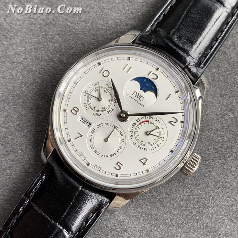 V9厂万国葡萄牙系列白面皮带万年历复刻手表