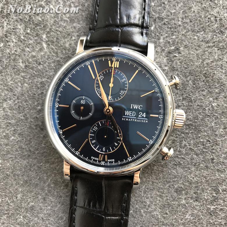 ZF厂万国柏涛菲诺系列蓝面金丁计时复刻手表