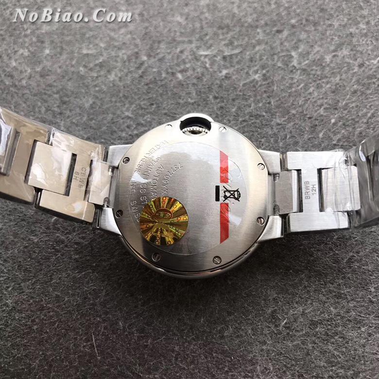 AF厂卡地亚蓝气球33毫米粉面钢带日本机芯版复刻手表