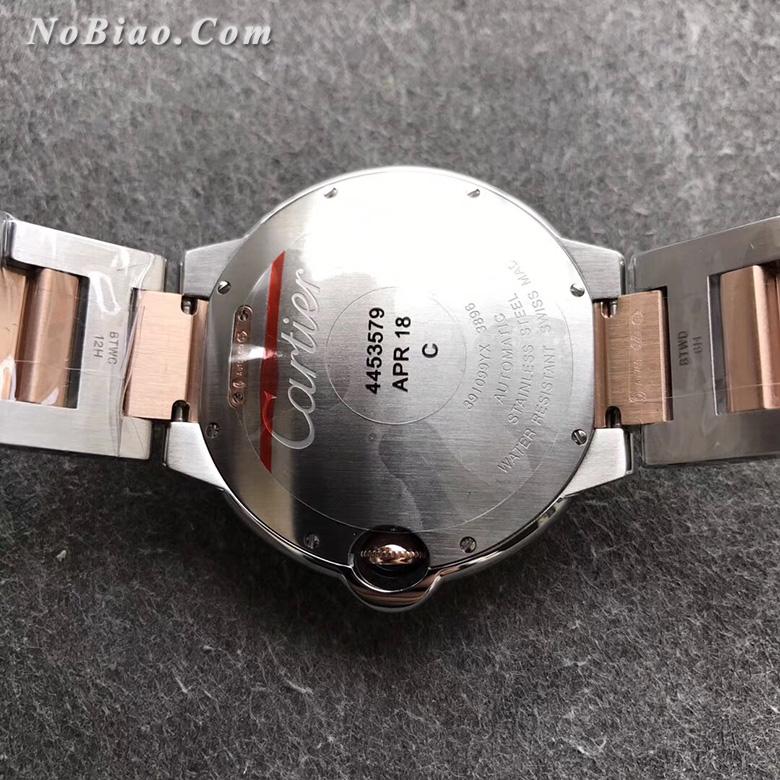 V6厂卡地亚大号蓝气球42毫米玫金圈男款复刻手表