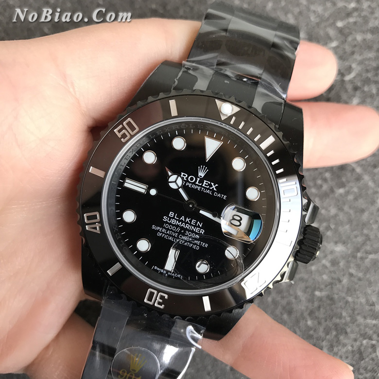 V6厂劳力士BLAKEN改装暗夜黑3135机芯特别版黑水鬼复刻手表