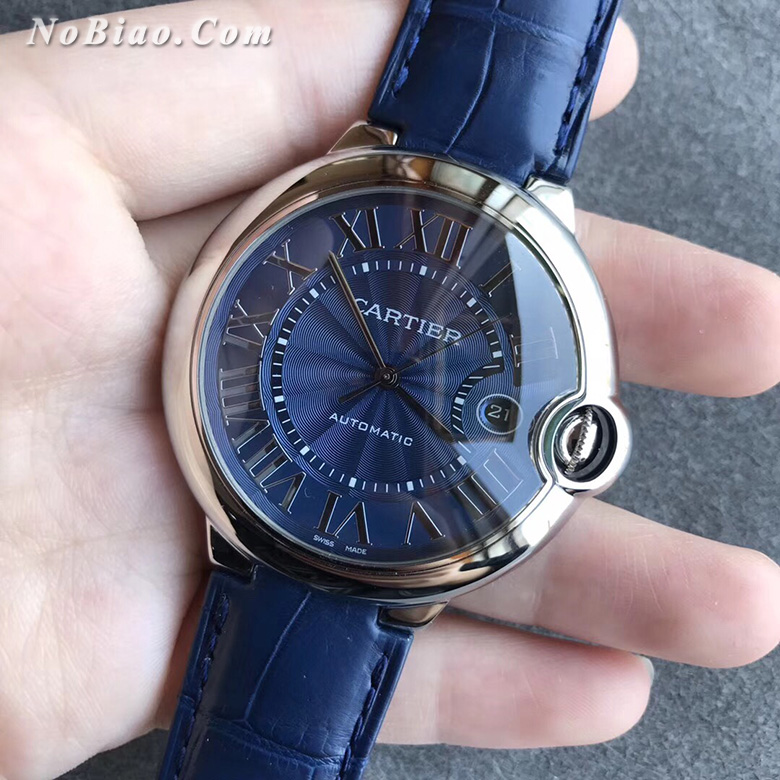 AF厂卡地亚大号42毫米WSBB0027蓝气球蓝面复刻手表