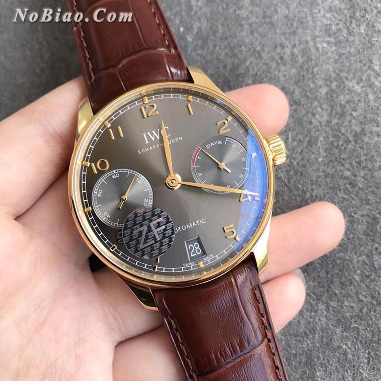 ZF厂万国葡七灰面金壳复刻手表