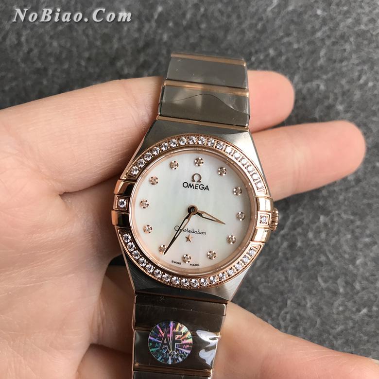 AF厂欧米茄星座28毫米女士石英复刻手表(十一)