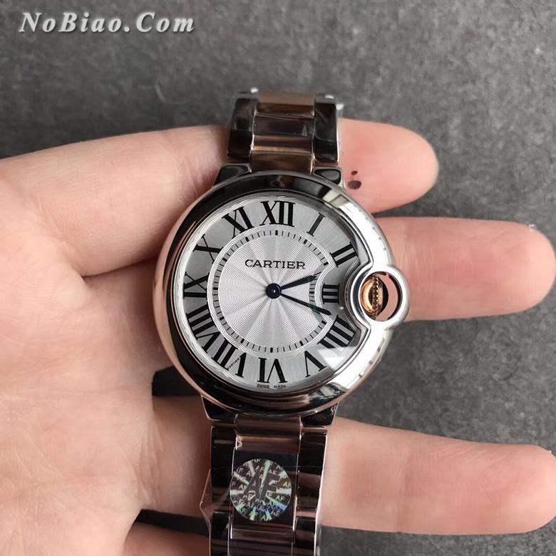 AF厂卡地亚蓝气球33毫米间玫金款女款石英版复刻手表