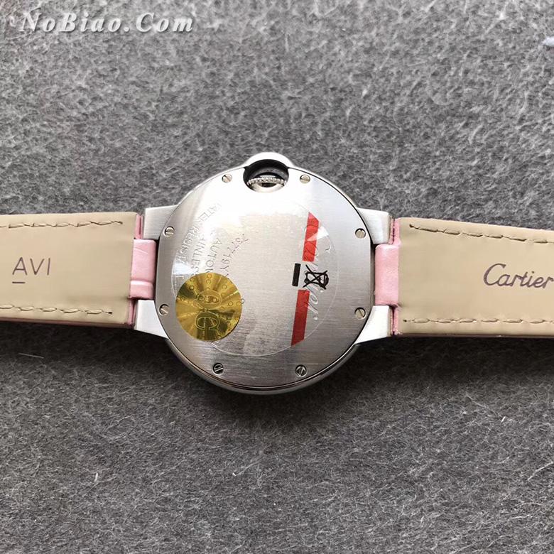AF厂卡地亚蓝气球33毫米粉面皮带日本机芯版复刻手表