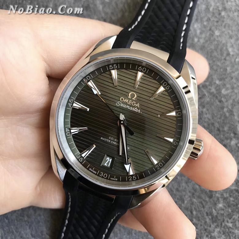 VS厂欧米茄海马150M柚木横纹盘220.10.41.21.10.001绿面复刻手表
