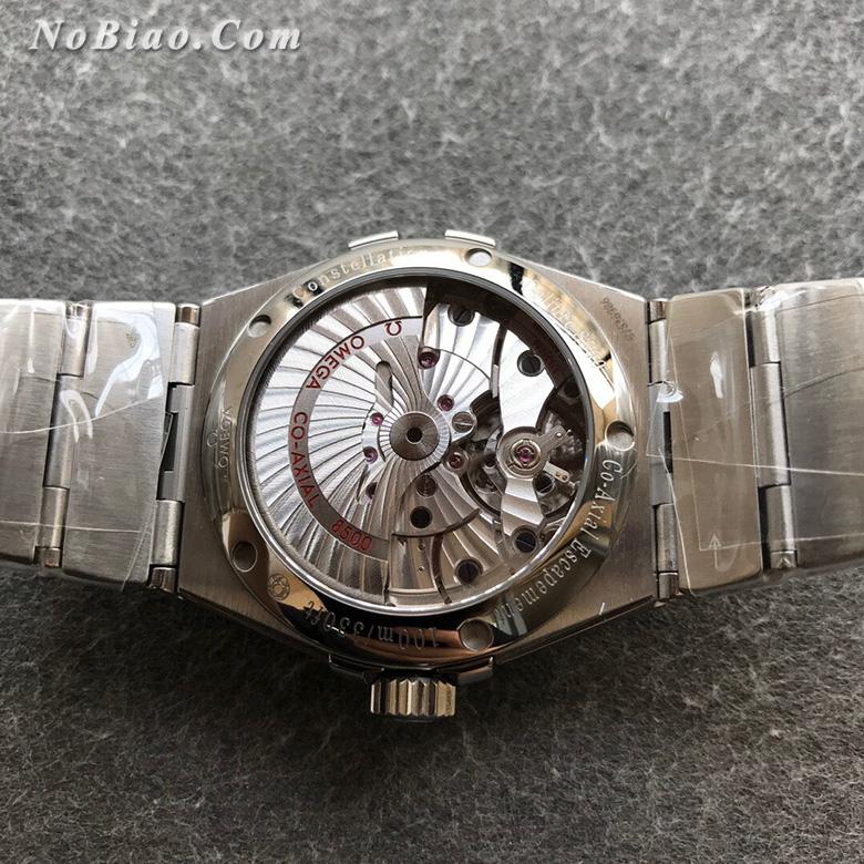 VS厂最强欧米茄星座系列123.10.38.21.03.001男款38毫米蓝面菱形纹盘复刻手表