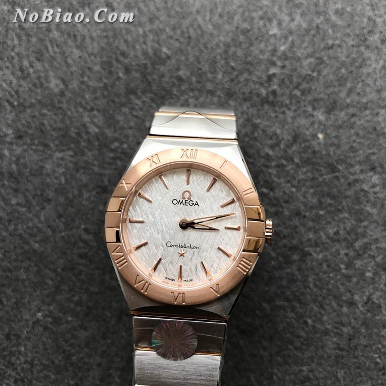 AF厂欧米茄星座28毫米女士石英复刻手表(九)
